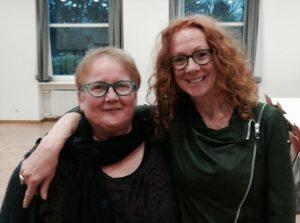 Els Beerten samen met haar Duitse redacteur, Helga Preugschat